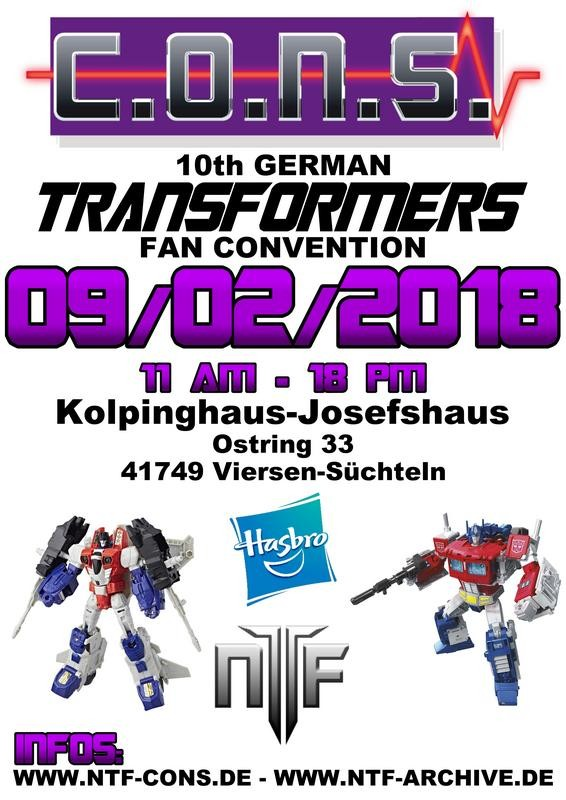 Transformers News: German Transformer Fan Convention C.O.N.S. X is on 2nd of September 2018