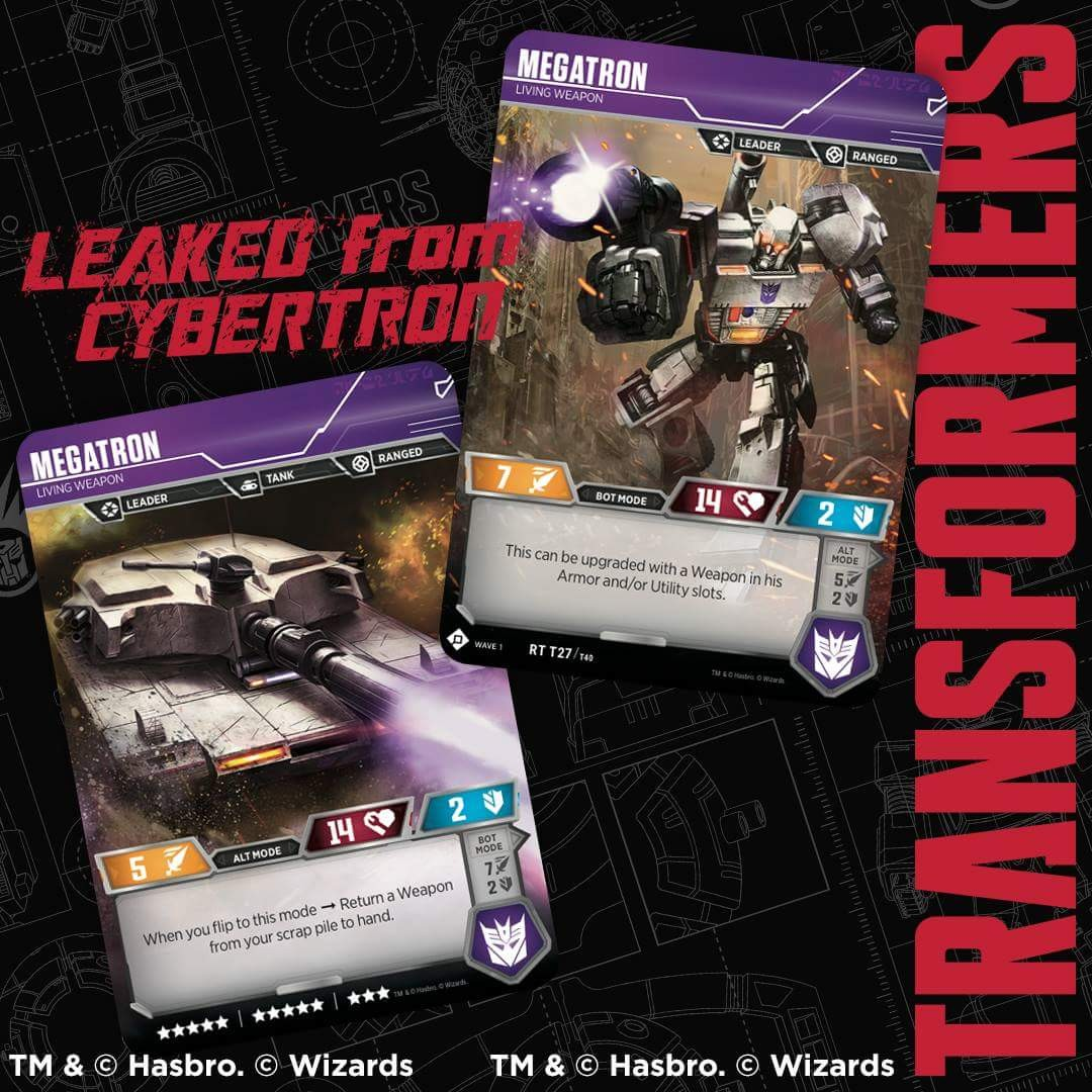 Transformers News: Official Transformers Trading Card Game: New Card Reveals, Leaked from Cybertron