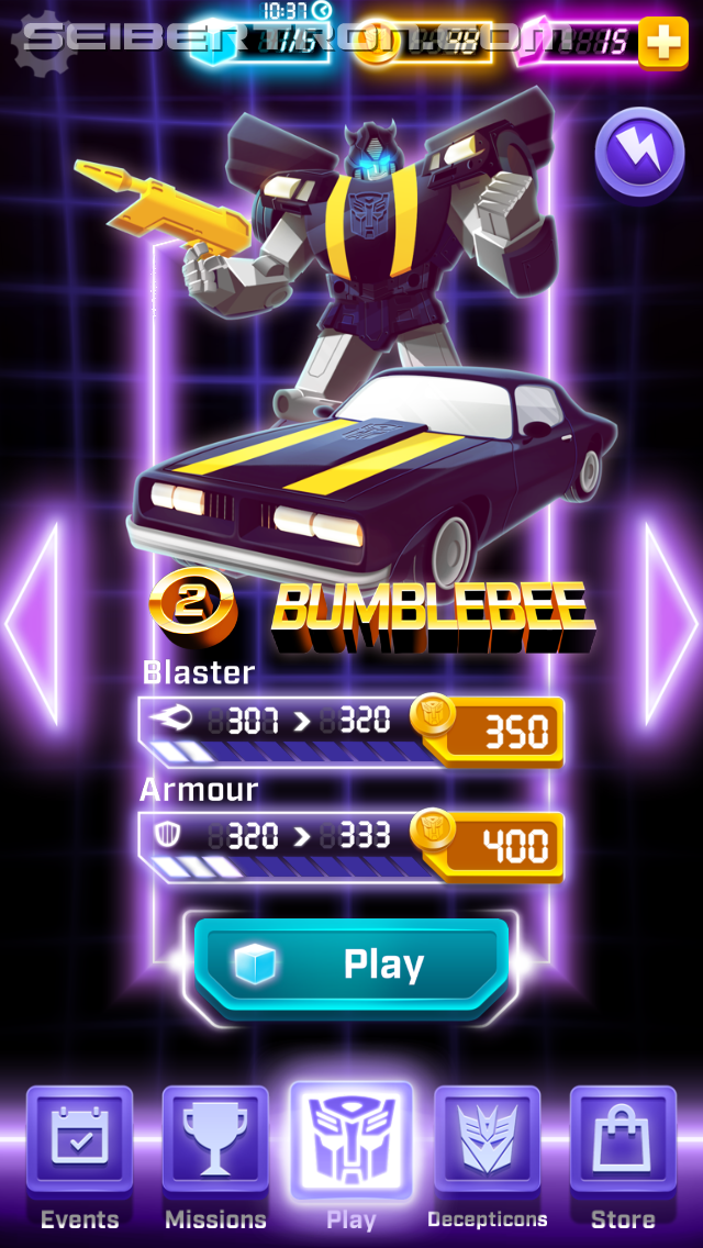Transformers News: Review of iOS Arcade Game Transformers Bumblebee: Overdrive