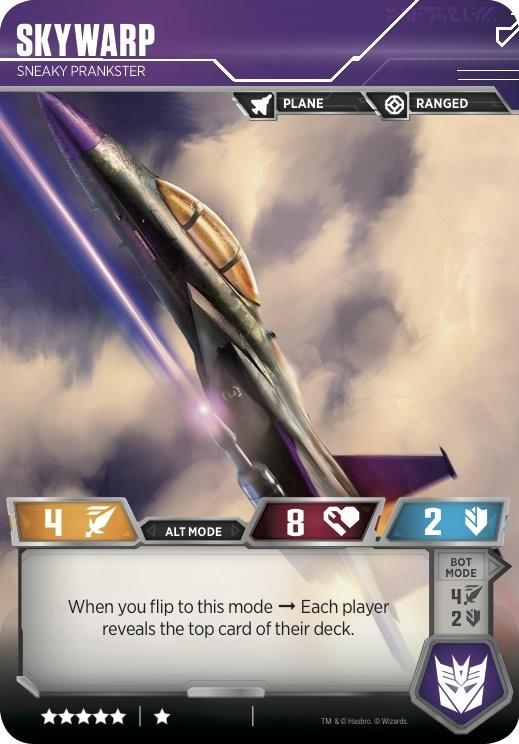Transformers News: Prowl, Skywarp and Wheeljack revealed for the Official Transformers Trading Card Game