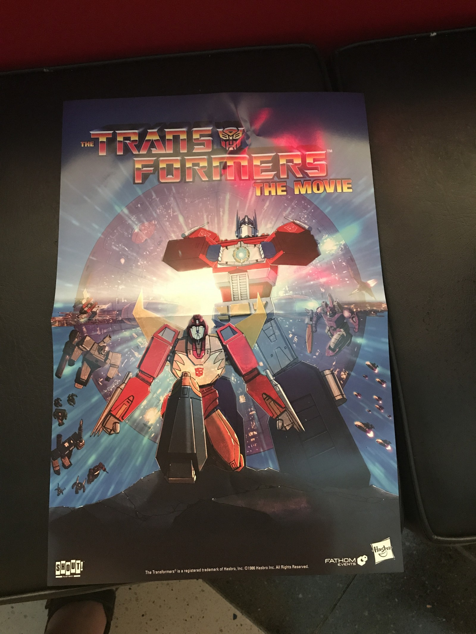 transformers the movie posters from fathom events