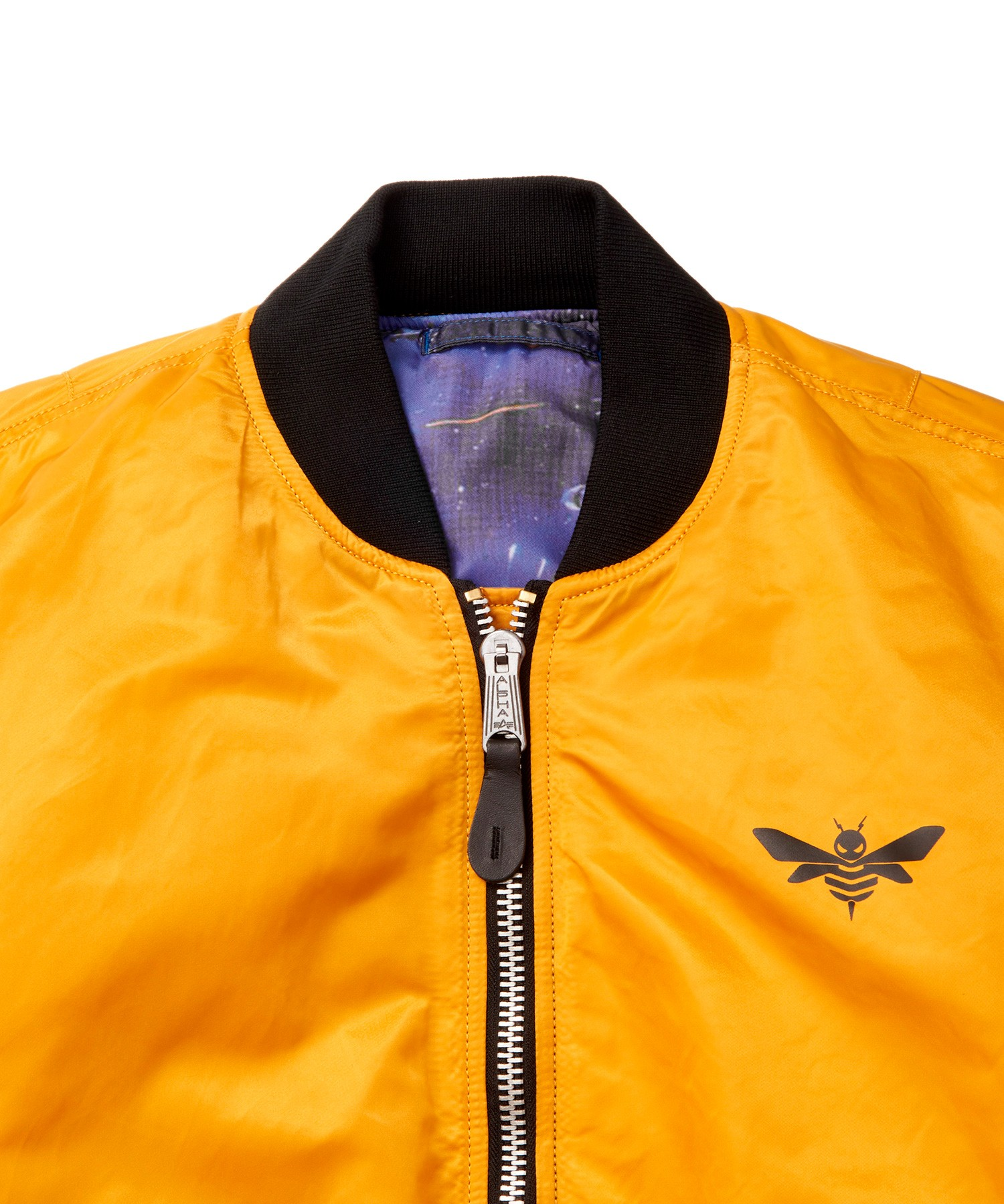 Transformers News: More Images of Alpha MA-1 Transformers Bumblebee Reversible Jacket