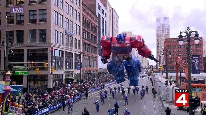 Transformers News: Transformers Included in the Detroit Thanksgiving Day Parade via Giant Optimus Prime Balloon
