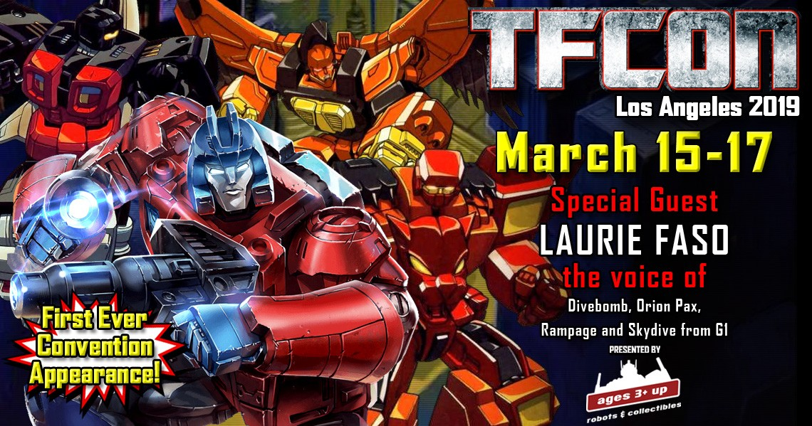 Transformers News: Transformers voice actor Laurie Faso joins the G1 Reunion at TFcon Los Angeles 2019