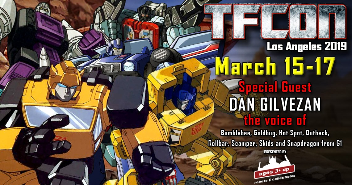 Transformers News: Transformers G1 Voice Actor Dan Gilvezan Joins TFcon Los Angeles 2019