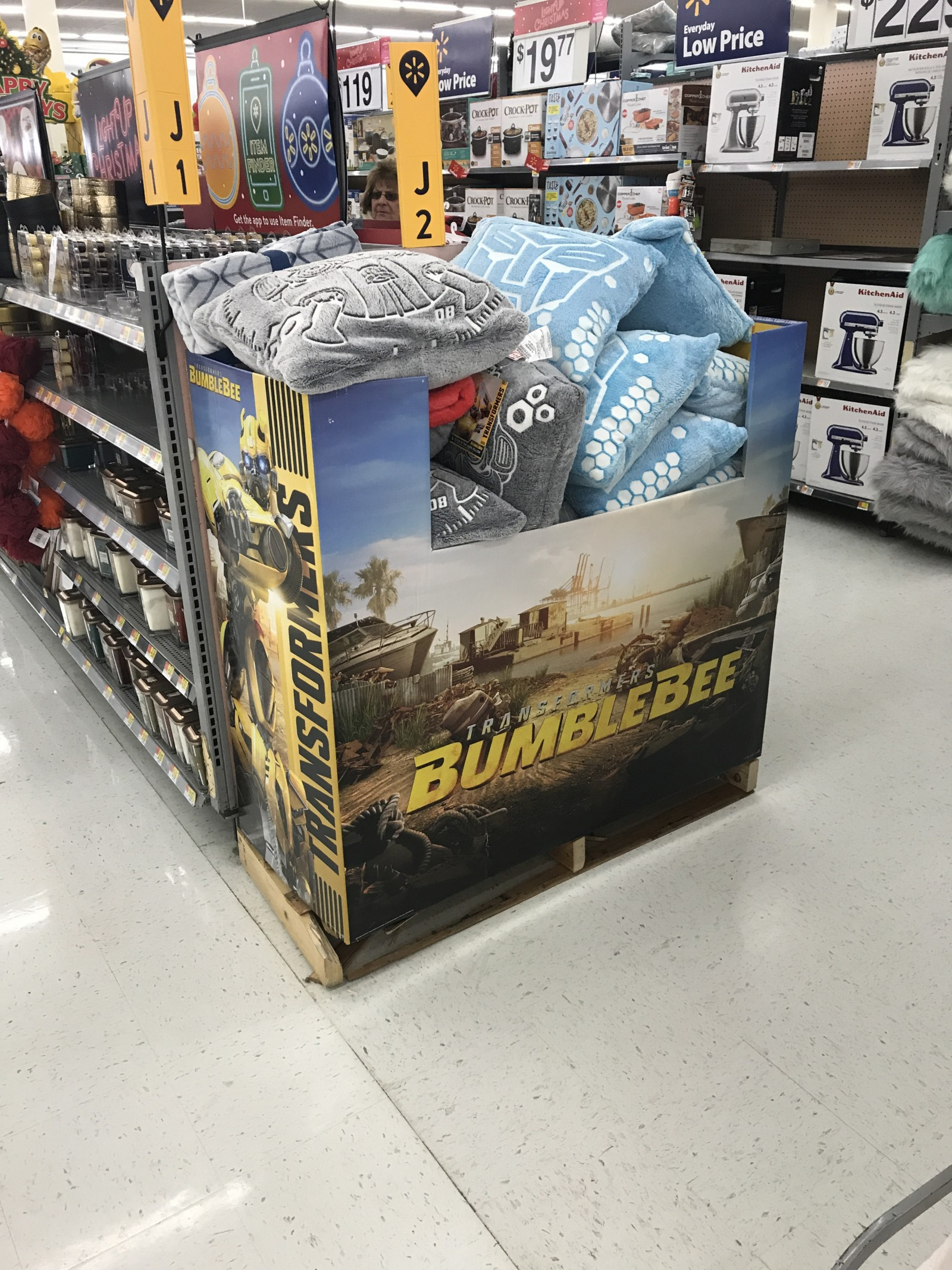 Transformers News: Transformers Bumblebee Movie Pillow Stack Found At Walmart in Centereach, NY