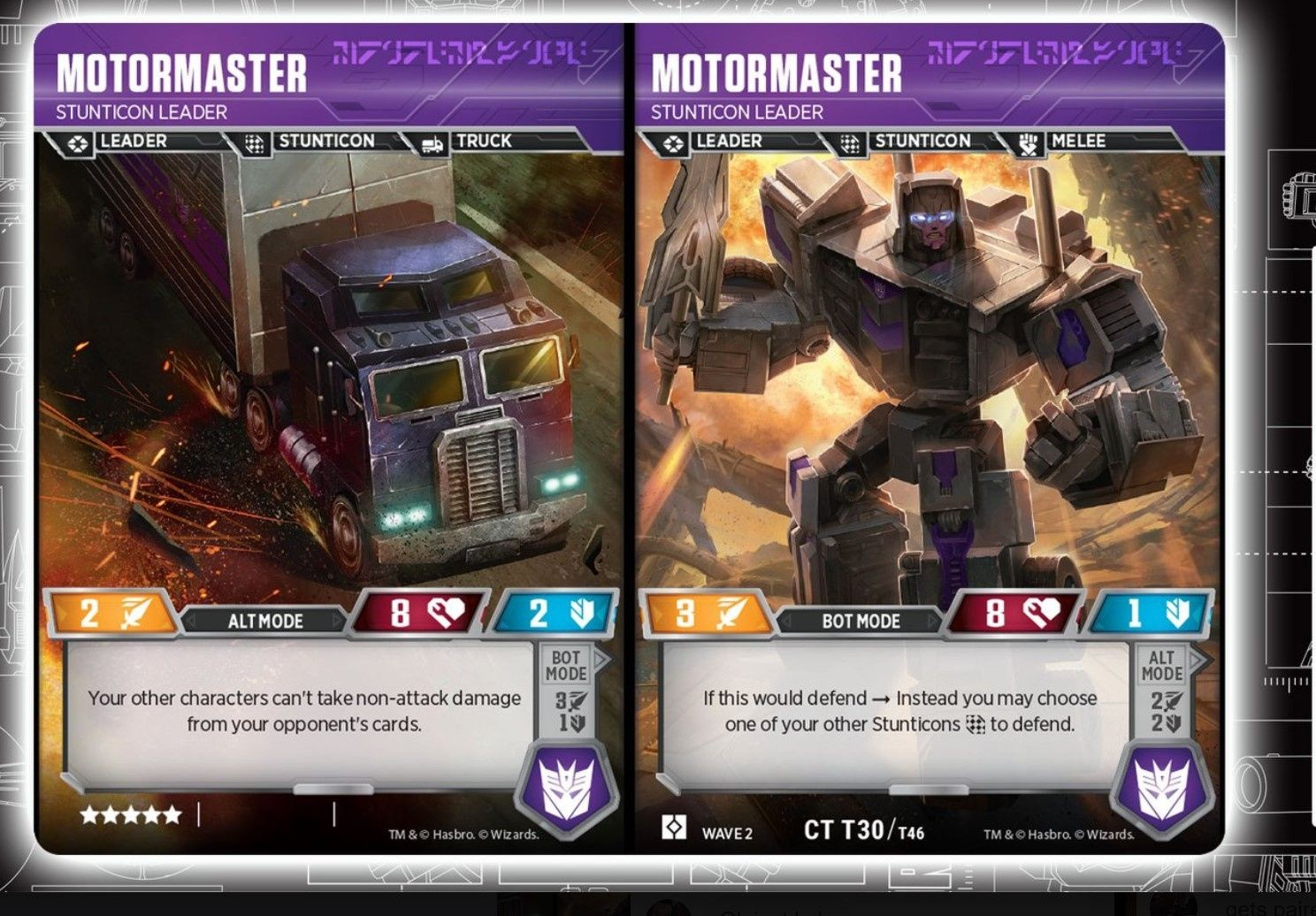 Brand New!!! MENASOR Transformers TCG  5-CARD COMBINER SET With Enigma Card!!