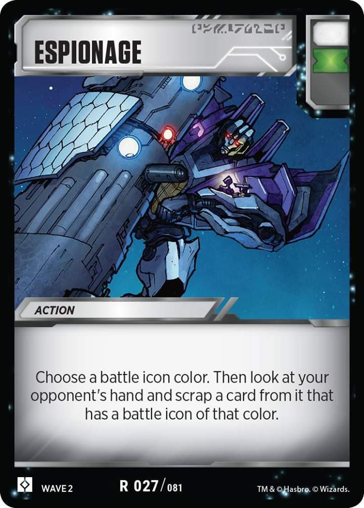 Transformers News: Transformers Trading Card Designer Ken Nagle Talks About Espionage Battle Card