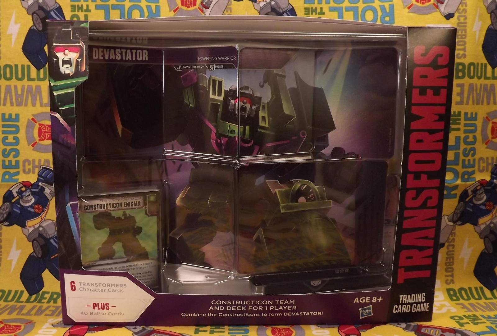 Transformers News: Transformers TCG Devastator Deck Found in Barnes and Noble