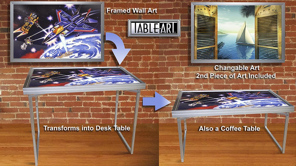 Transformers News: G1 packaging artist's Kickstarter for wall art that transforms into coffee table or desk