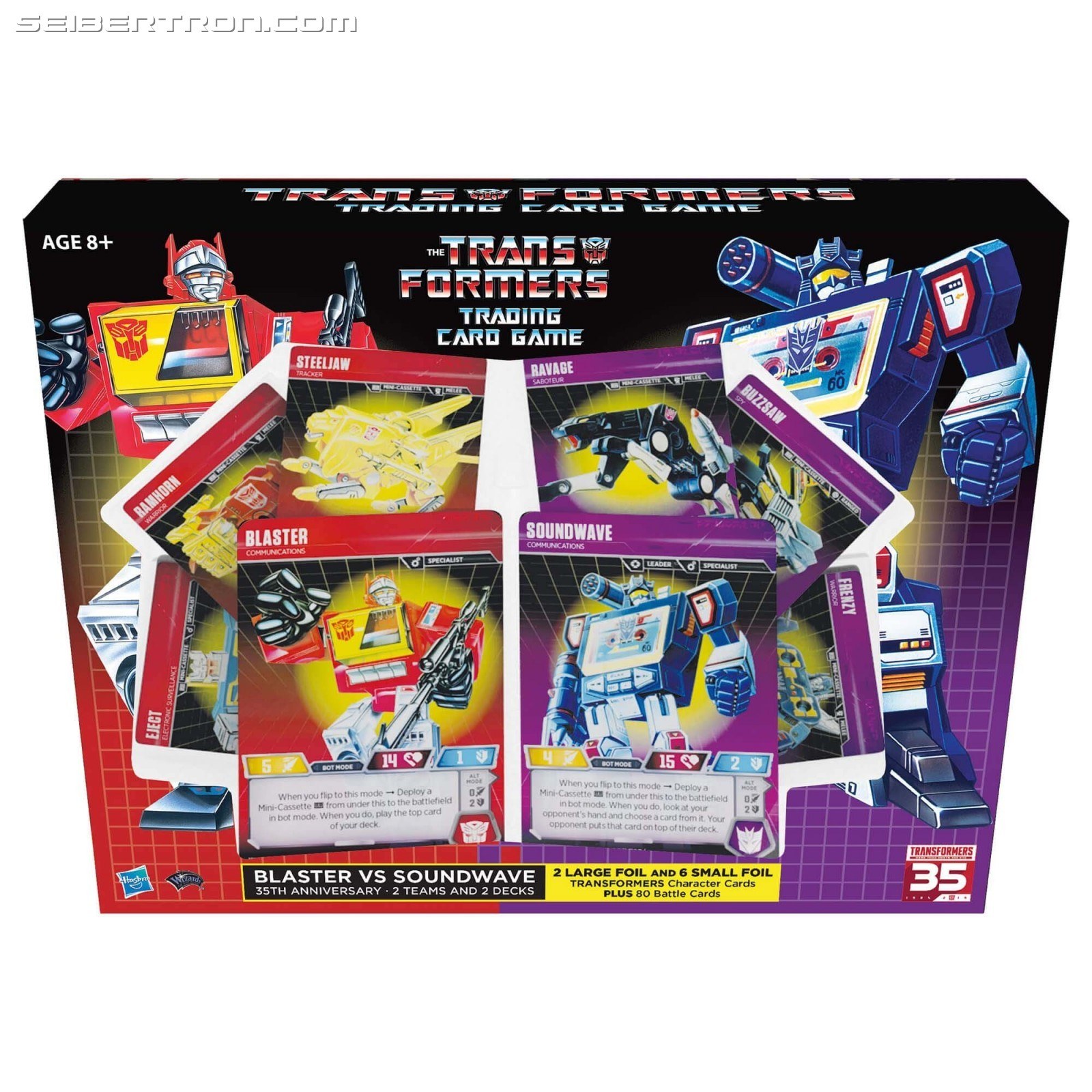 Transformers News: Transformers Trading Card Game SDCC Exclusive Blaster and Soundwave Sets