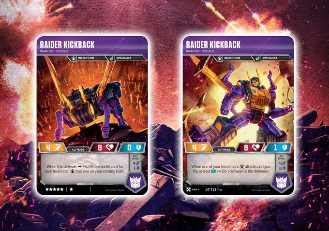 Transformers News: Transformers Card Game Reveals for Siege II with Optimus, Megatron, Smokescreen, Kickback, More
