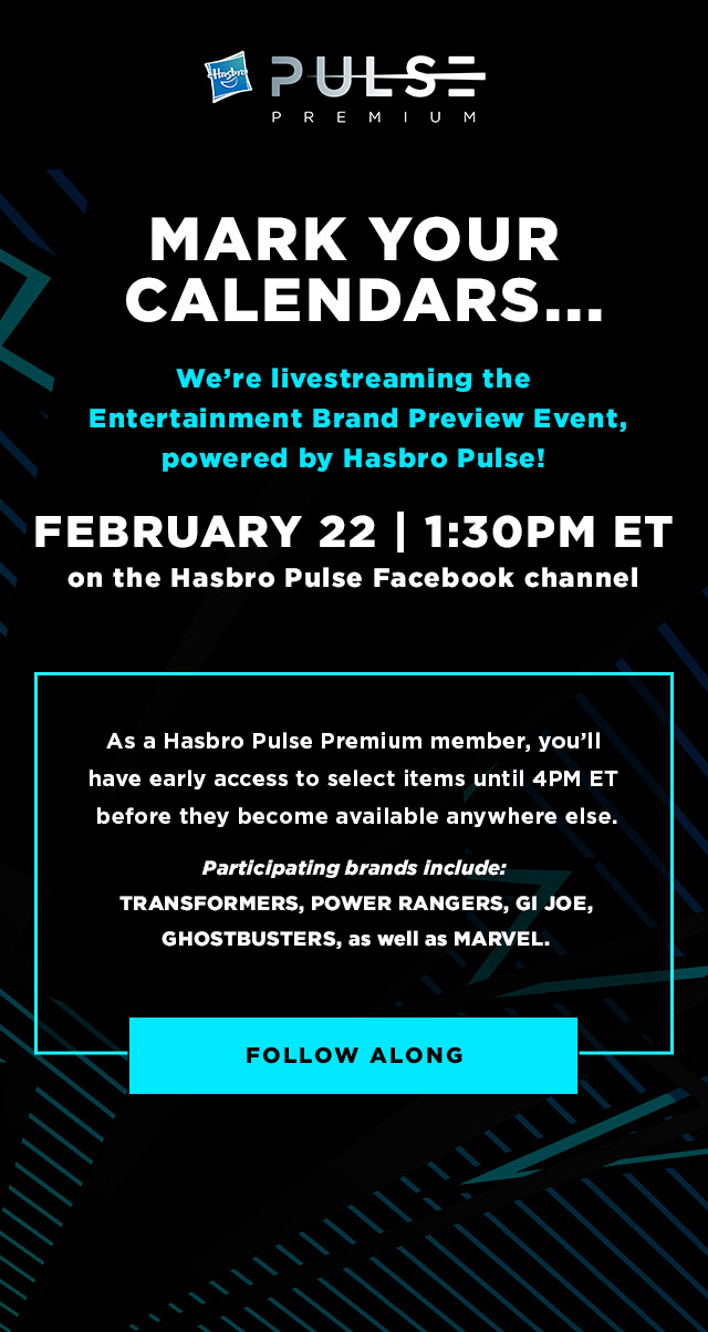 Transformers News: Hasbro Pulse Premium Livestreaming From Toyfair 2020 Tomorrow 2/22 at 1:30PM Eastern Time