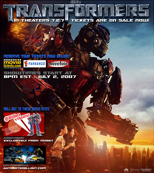 Transformers Movie Tickets - Now On Sale!