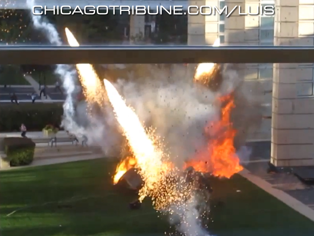 Chicago Tribune video montage from this weekend's Transformers 4 Chicago filming