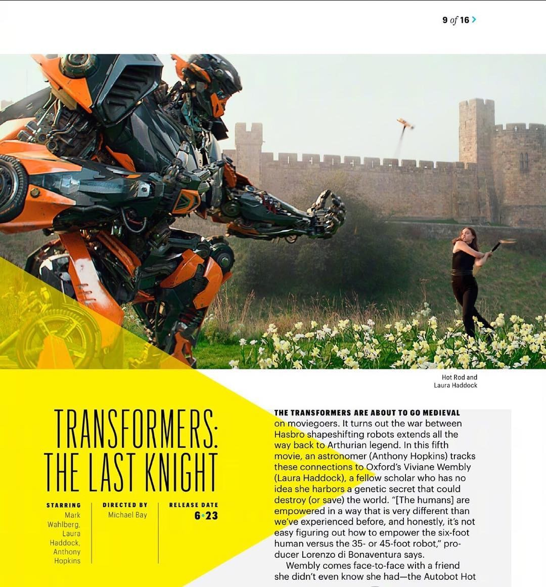 Transformers News: New Image of Hot Rod from Transformers: the Last Knight
