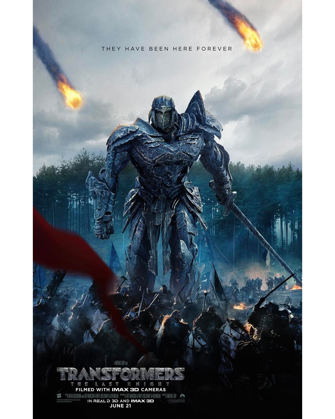 Transformers News: New Poster for Transformers: The Last Knight 'They Have Been Here Forever'
