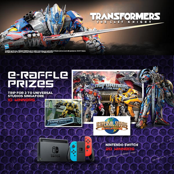 Transformers News: 7Eleven Philippines Transformers: The Last Knight e-Raffle and D