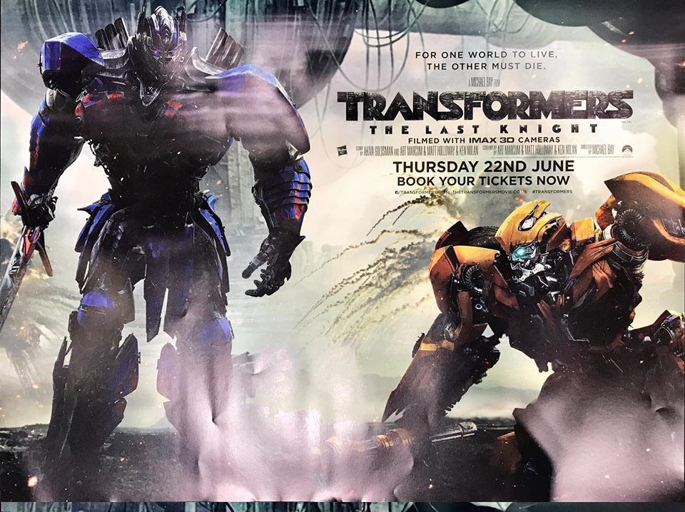 Transformers News: UK Posters for Transformers: The Last Knight at MCM London