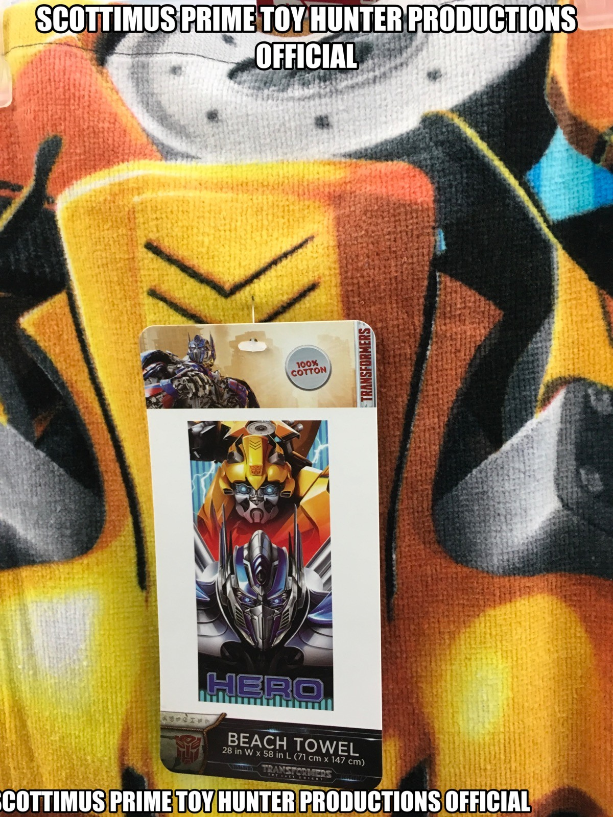 Transformers News: Transformers: The Last Knight T-Shirts and Beach Towels Found In-Stores, New Hot Rod Costume