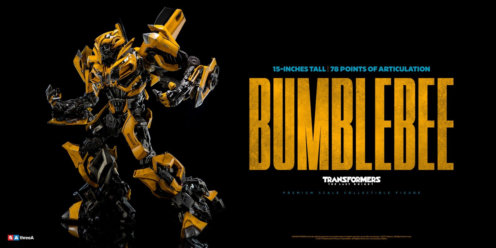 Transformers News: ThreeA The Last Knight Optimus Prime, Bumblebee, Sqweeks Revealed