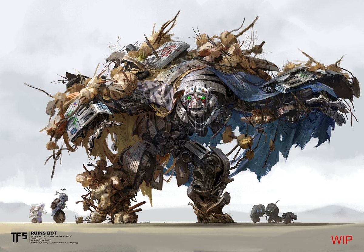 Transformers News: The Last Knight Concept Art for Canopy and Daytrader Revealed