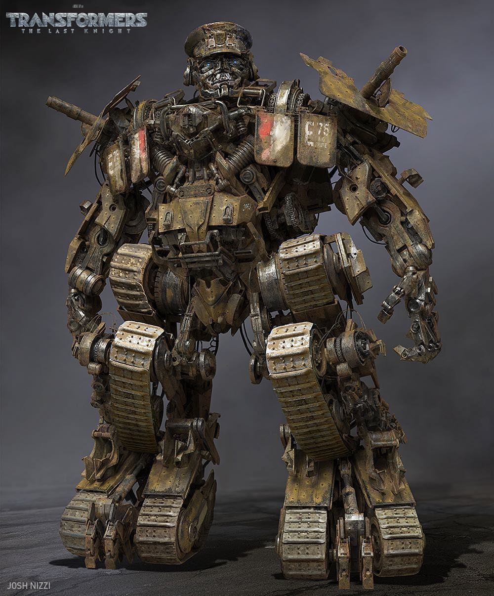 Transformers News: Transformers: The Last Knight Concept Art - Mohawk, Bulldog, Warpath, Megatron in Paris