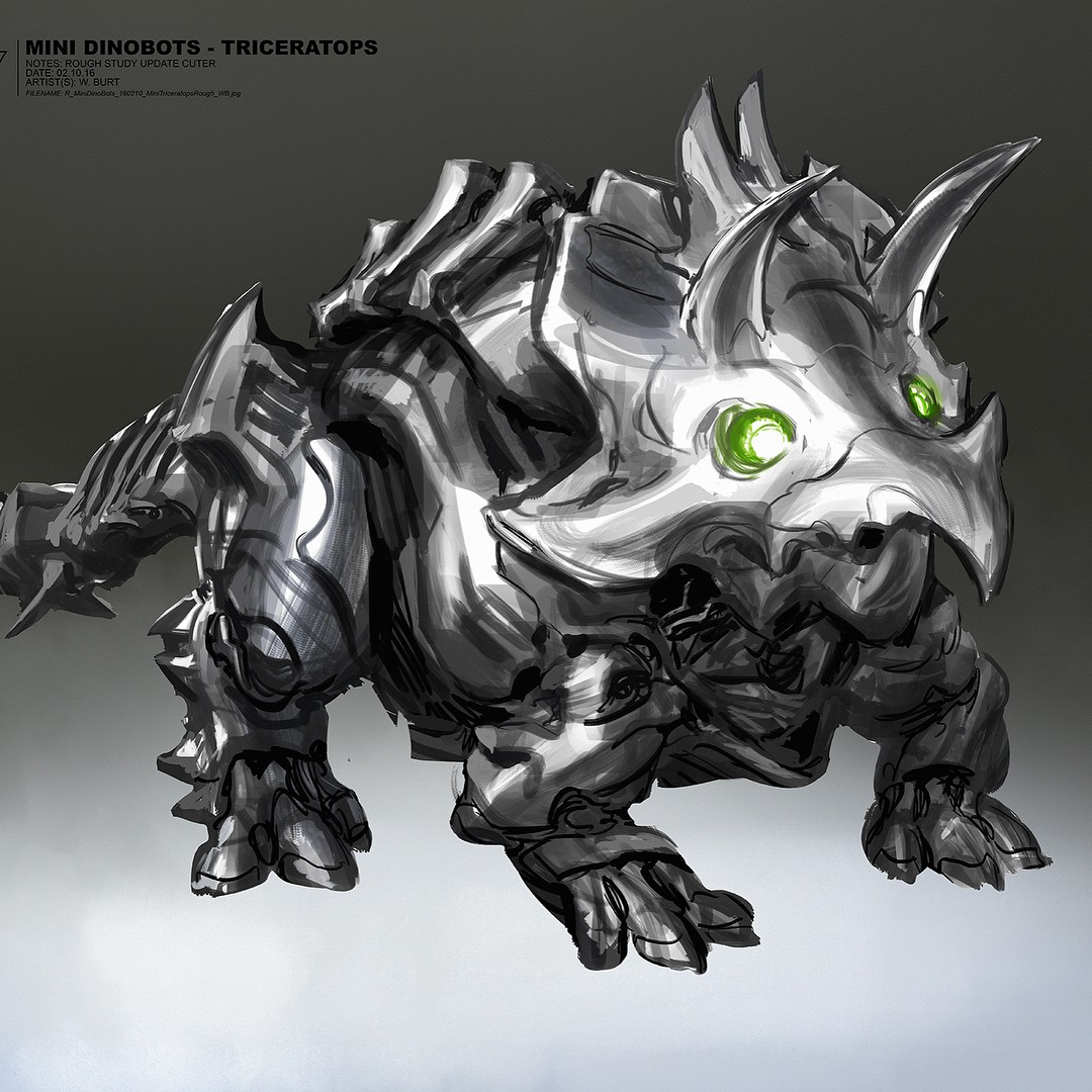 Transformers News: Transformers: The Last Knight Concept Art Round-Up, featuring Mini Dinobots