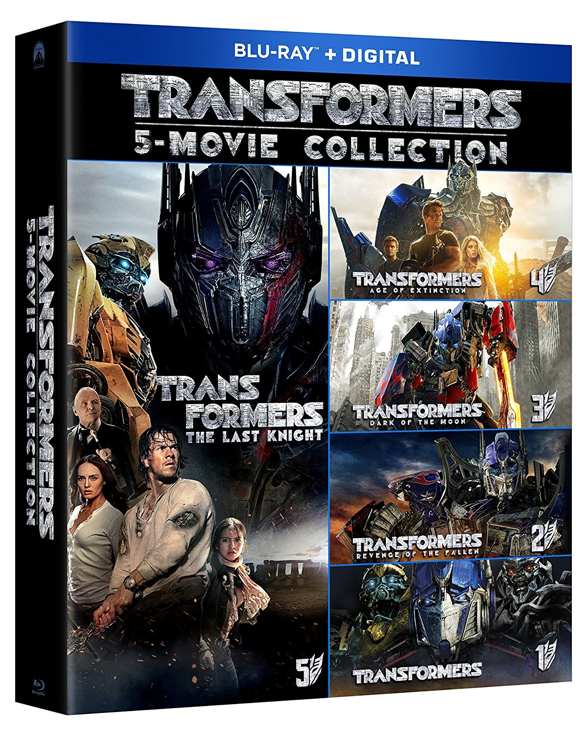 Transformers News: Blu-Ray Boxset of All Five Transformers Movies for $29.99