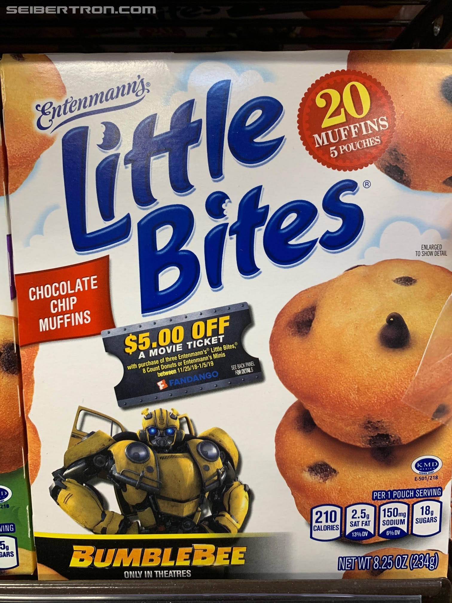 Transformers News: Entenmann's Little Bites Offering $5 Off Transformers Bumblebee Movie Tickets