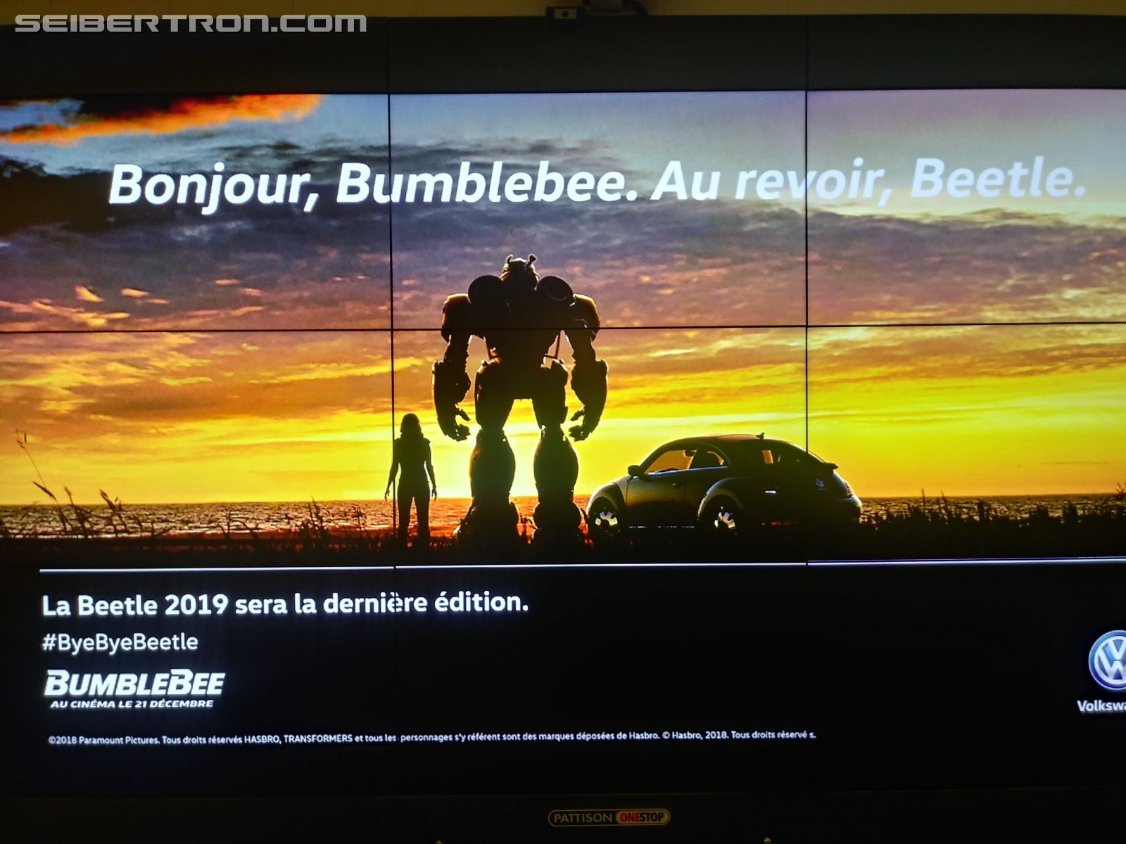 Transformers News: Bumblebee Movie Part of Goodbye Beetle Campaign from Volkswagen
