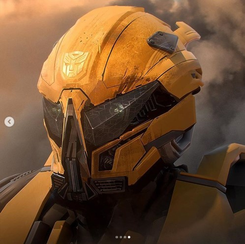 Transformers News: Bumblebee film concept art for the Decepticons and Bumblebee's battle mask