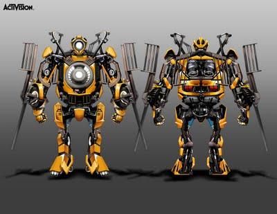 Never Before Seen Transformers 2007 Game Concept Art