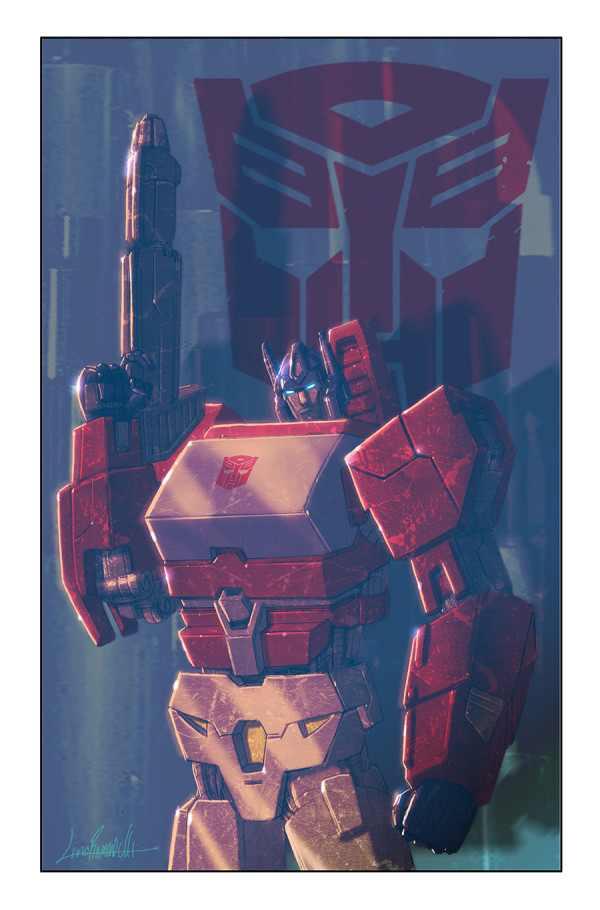 Transformers News: IDW Spotlight: Orion Pax Cover Art from Livio Ramondelli