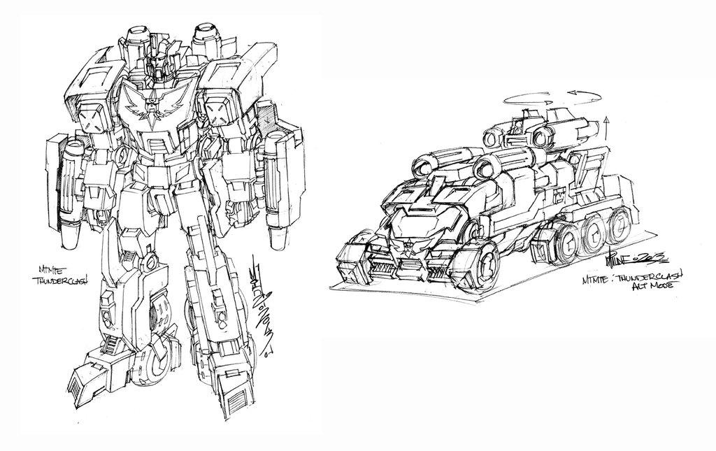 Alex Milne MTMTE Thunderclash Concept Art - Transformers