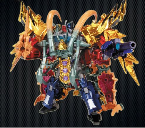 Takara Tomy CNY Exclusive Transformers Prime Arms Micron Optimus Prime & Gaia Unicron Bios (aka Why Unicron Combines with Optimus Prime)