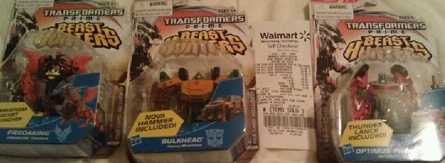 "Transformers News: Transformers Prime ""Beast Hunters"" Cyberverse Commander Wave 1 Released"