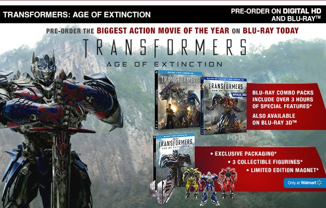 Transformers News: Transformers: Age of Extinction Digital HD and Blu-Ray Pre-orders