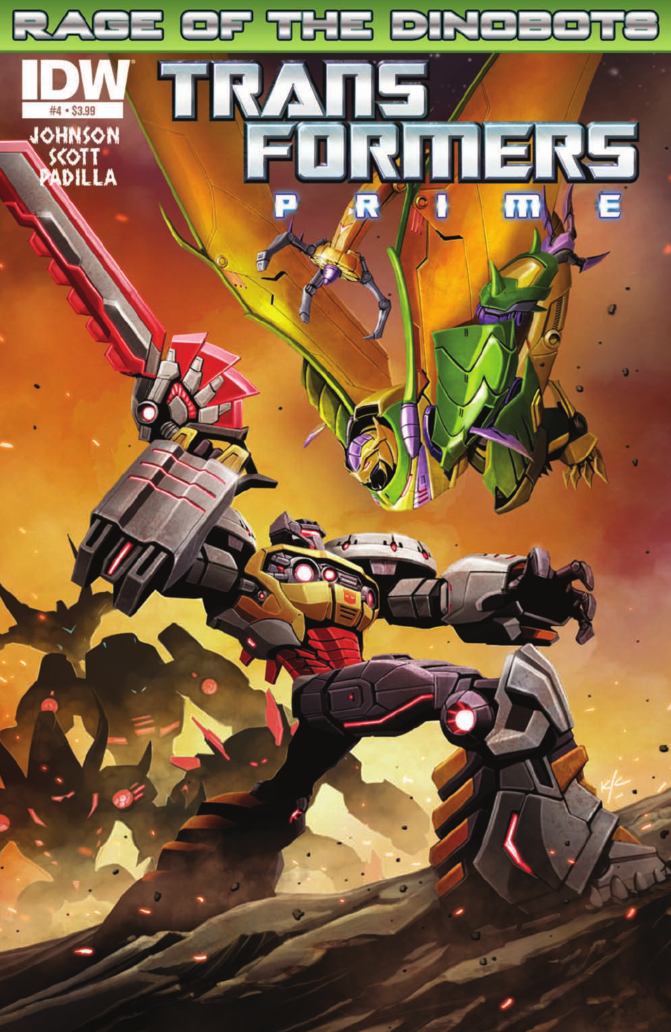 Transformers News: Transformers: Prime—Rage of the Dinobots #4 Preview