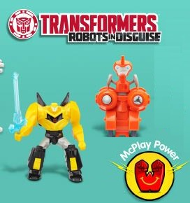 Transformers Robots In Disguise 2015 Mcdonalds Happy Meal Toys