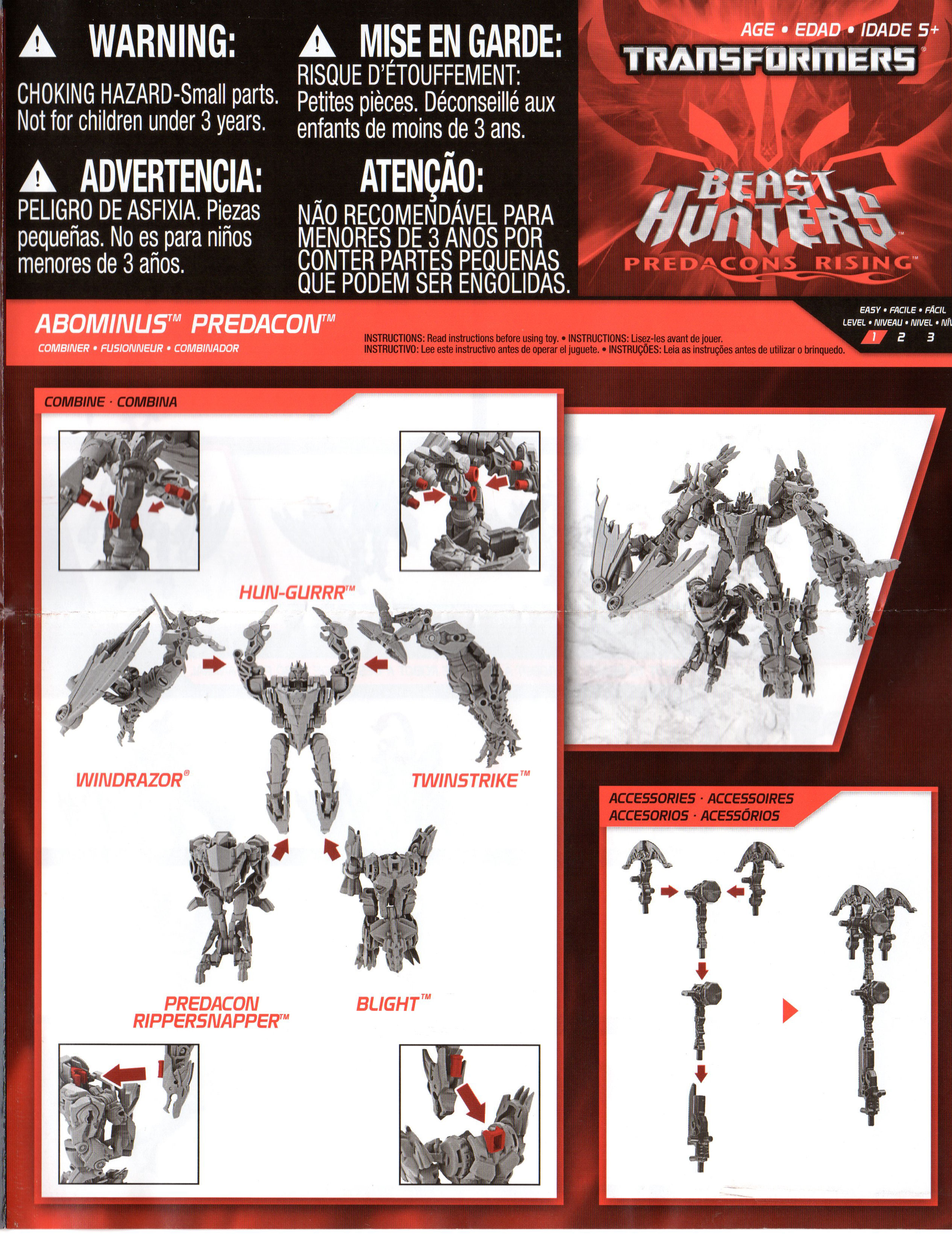 beast hunters abominus instruction scans now available transformers rh seibertron com transformer optimus prime manual transformer optimus prime instruction manual