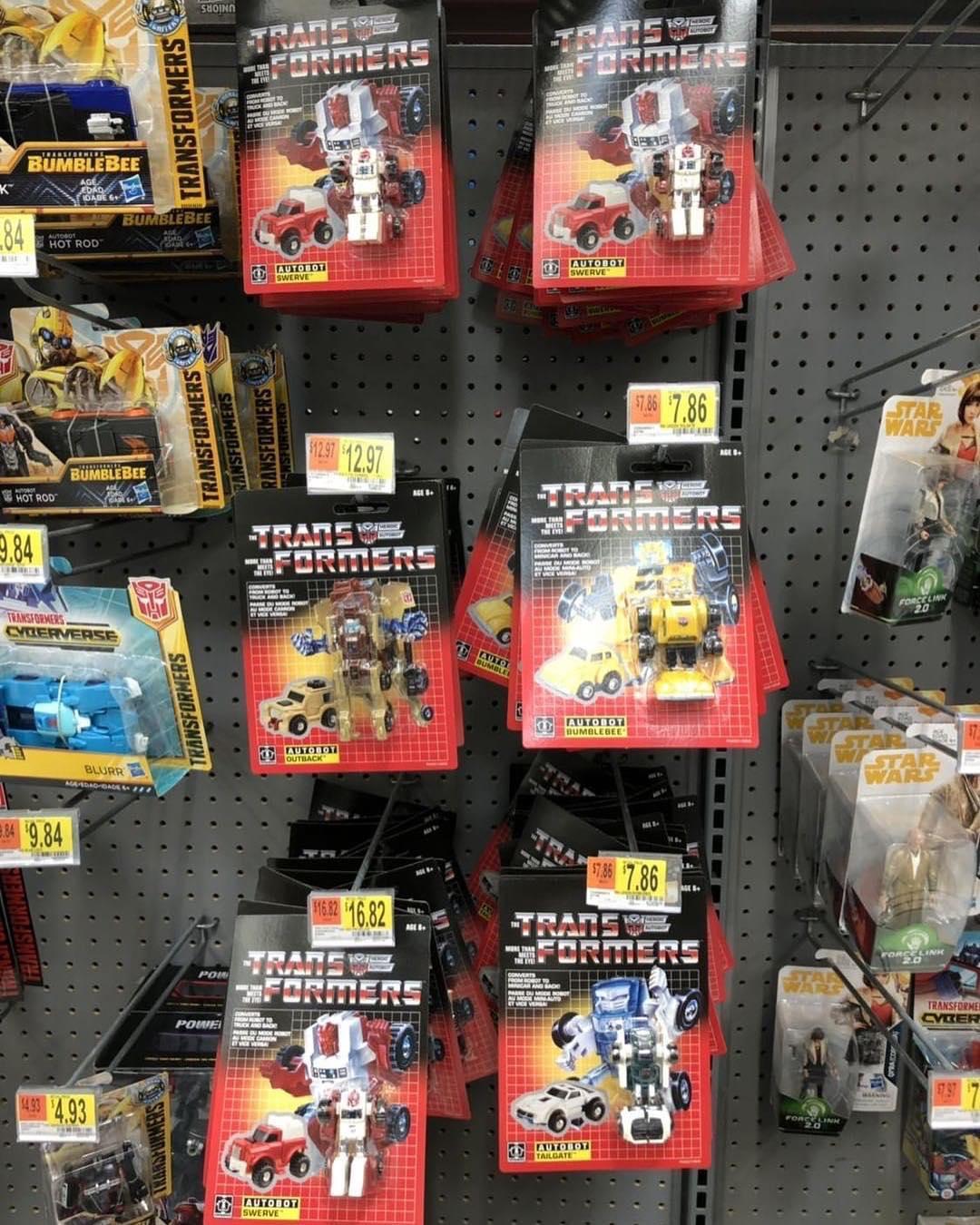 Transformers Autobot Swerve G1 Walmart Minibot 2017 Reissue sealed