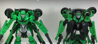 Transformers News: English Video Review with Comparison for the New Transformers: The Last Knight Deluxe Crosshairs