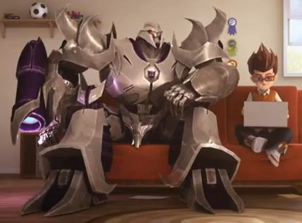 Time Warner Cable Ad featuring Transformers Prime Megatron