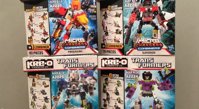Kre-O Microchangers Combiners Video Review: Superion, Bruticus and Predaking