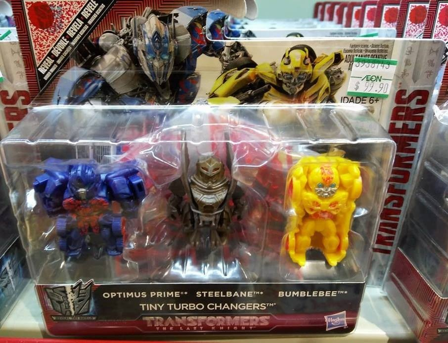 transformers the last knight tiny turbo changer three pack featuring steelbane found. Black Bedroom Furniture Sets. Home Design Ideas
