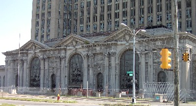 Detroit Train Station on Michigan Ave