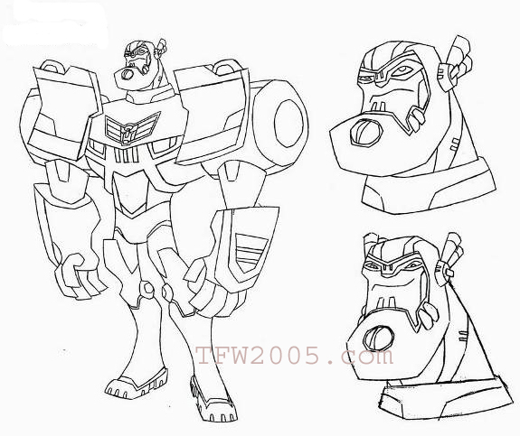 Images du design des personnages de Transformers Animated 1198799084_sentinelprimecopy