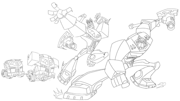 Transformers Animated Transformation Sequences