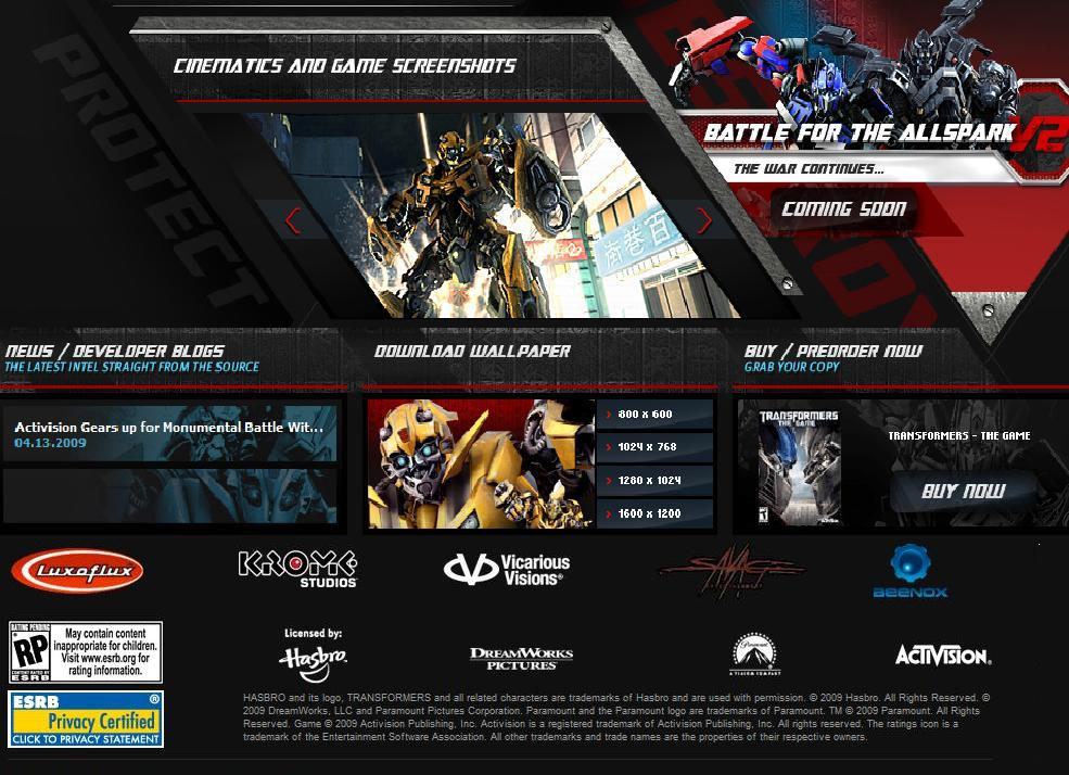ROTF Battle for the Allspark V2 LIVE